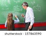 rear view of little girl... | Shutterstock . vector #157863590