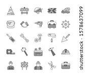 set of universal pixel perfect... | Shutterstock . vector #1578637099