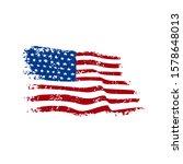 american flag grunge style... | Shutterstock .eps vector #1578648013