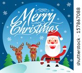 christmas greeting card and...   Shutterstock .eps vector #157867088