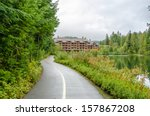 fragment of nita lake trail in... | Shutterstock . vector #157867208
