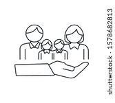 family insurance   minimal line ... | Shutterstock .eps vector #1578682813