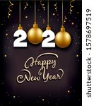 new year gift card with place... | Shutterstock . vector #1578697519