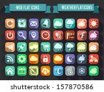 set of flat icons for web and... | Shutterstock .eps vector #157870586