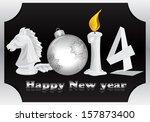 2014 black and white | Shutterstock . vector #157873400