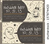 vector halloween invitation.... | Shutterstock .eps vector #157874420