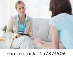 psychologist having session... | Shutterstock . vector #157874906