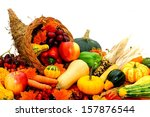 Harvest Cornucopia Filled With...