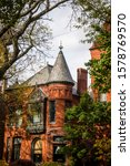 Small photo of Affluent West Fullerton avenue, Lincoln Park neighborhood, North Side, Chicago, Illinois, USA