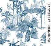 seamless pattern cobalt blue... | Shutterstock .eps vector #1578812719