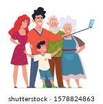 family make selfie. group...   Shutterstock .eps vector #1578824863
