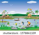 lifestyle of people at...   Shutterstock .eps vector #1578861109