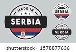 made in serbia collection with... | Shutterstock .eps vector #1578877636