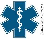medical symbol of the emergency ... | Shutterstock .eps vector #157892714