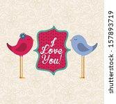 love design over pattern... | Shutterstock .eps vector #157893719