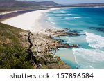 aerial view of noordhoek beach  ... | Shutterstock . vector #157896584