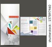 business brochure  template | Shutterstock .eps vector #157897460