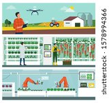 smart agriculture and iot... | Shutterstock .eps vector #1578994366