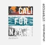 california slogan on sunset and ...   Shutterstock .eps vector #1578995209