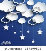 abstract 3d paper design night...   Shutterstock .eps vector #157899578