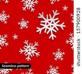 holiday seamless pattern. merry ... | Shutterstock .eps vector #157900928