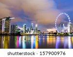 singapore night | Shutterstock . vector #157900976