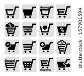 shopping cart icons | Shutterstock .eps vector #157901594