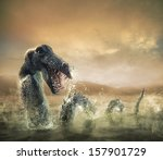 photo composite of loch ness... | Shutterstock . vector #157901729