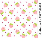 fruit pattern.cute fresh... | Shutterstock .eps vector #1579042423