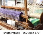 Old Traditional Wooden Weaving...