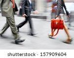 business people at rush hour... | Shutterstock . vector #157909604