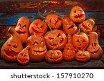 scary jack o lantern halloween... | Shutterstock . vector #157910270