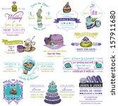 wedding vintage invitation... | Shutterstock .eps vector #157911680