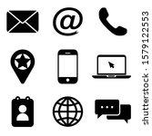 contact us flat icon. vector   | Shutterstock .eps vector #1579122553