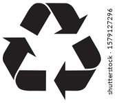 recycling symbol icon vector... | Shutterstock .eps vector #1579127296