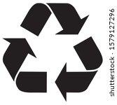 Recycling Symbol Icon Vector...