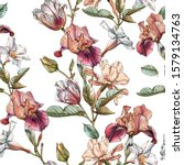 floral seamless pattern with... | Shutterstock . vector #1579134763