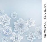 card with  christmas snowflake | Shutterstock .eps vector #157916804