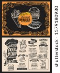 burger menu template for... | Shutterstock .eps vector #1579180930