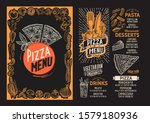 pizza menu template for... | Shutterstock .eps vector #1579180936