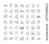 world traveller linear icons ... | Shutterstock .eps vector #1579189813