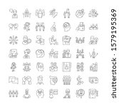 mentality linear icons  signs ... | Shutterstock .eps vector #1579195369