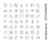 materials linear icons  signs ... | Shutterstock .eps vector #1579198690