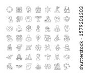 idea linear icons  signs ... | Shutterstock .eps vector #1579201303