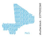 map of mali from binary code... | Shutterstock .eps vector #1579202260