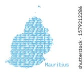 map of mauritius from binary... | Shutterstock .eps vector #1579212286