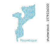 map of mozambique from binary... | Shutterstock .eps vector #1579226320