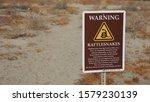 Rattlesnake Warning Sign On A...