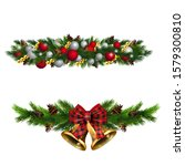 christmas decorations with fir...   Shutterstock .eps vector #1579300810