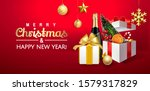 merry christmas and happy new... | Shutterstock .eps vector #1579317829